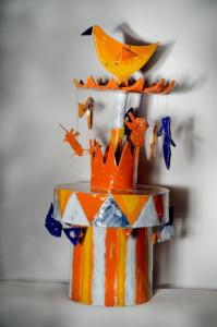 giostra,Paola Sapori ceramica smaltata