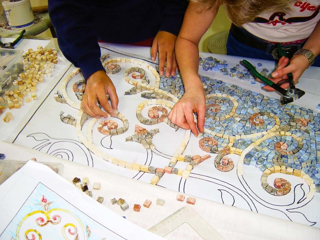 5 mosaici marmo