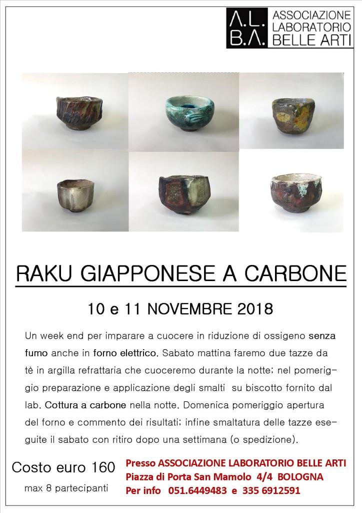 RAKU GIAPPONESE A CARBONE 18 19